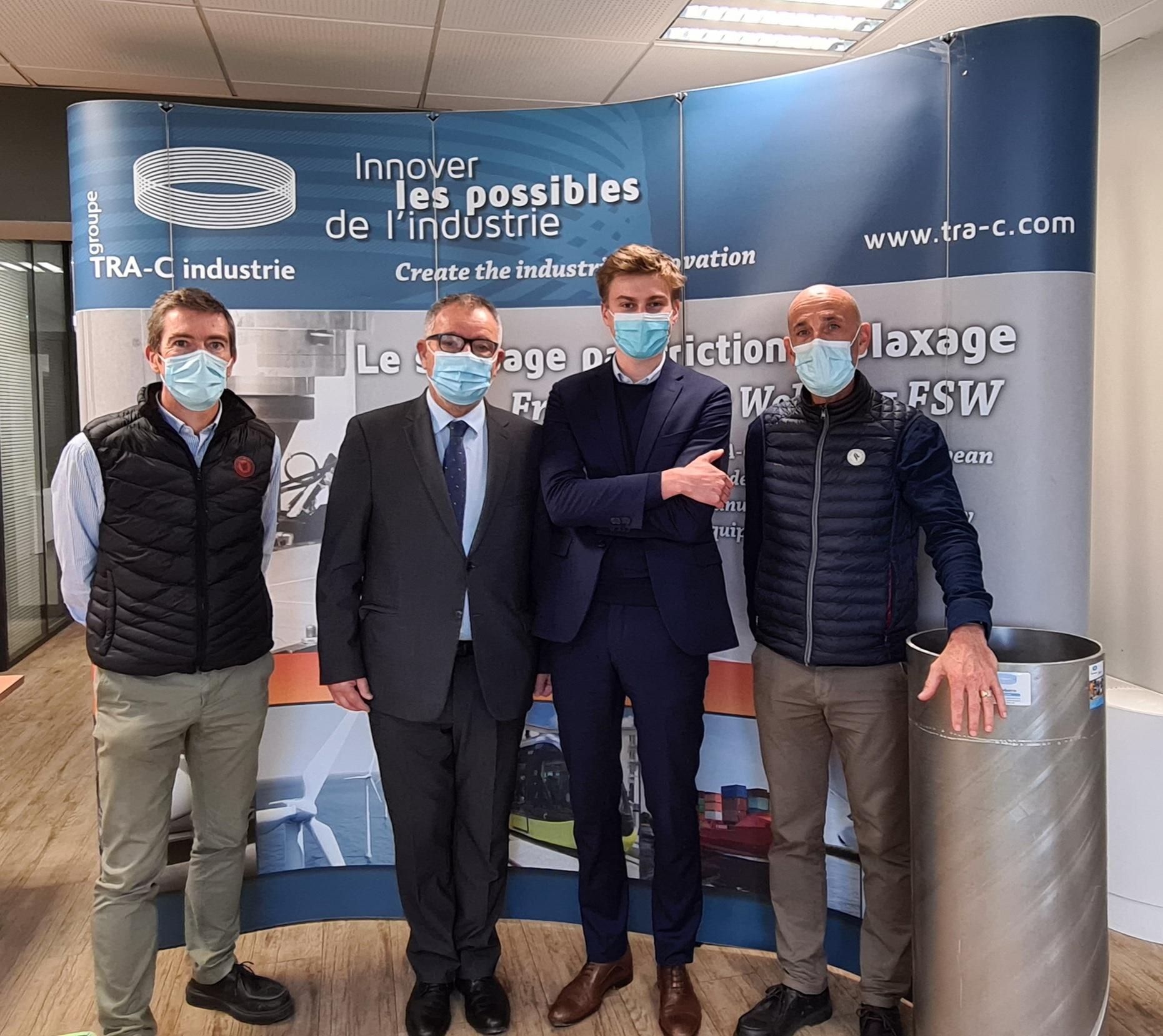 Visite du Sous-Préfet de Villefranche-sur-Saône dans les ateliers de TRA-C industrie
